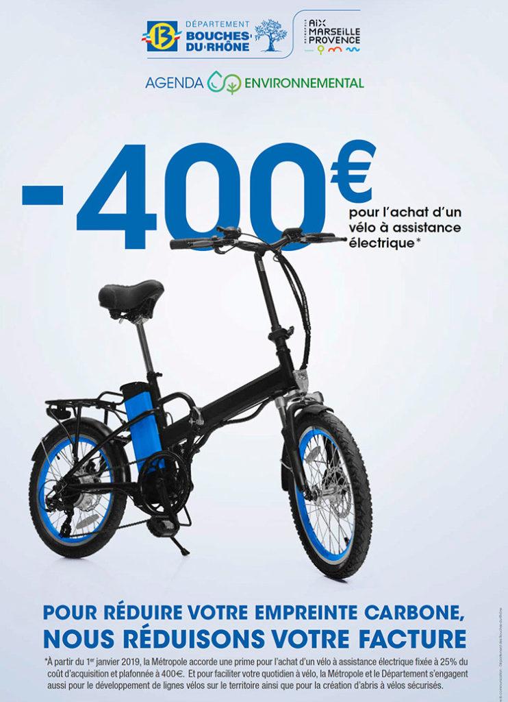 Prime à l'achat velo assistance electrique, subvention VAE Marseille